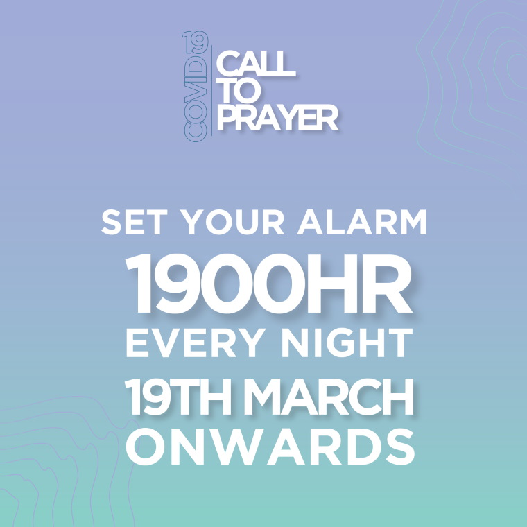 Call for Prayer 1900HR every night