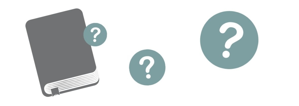 question marks around a bible