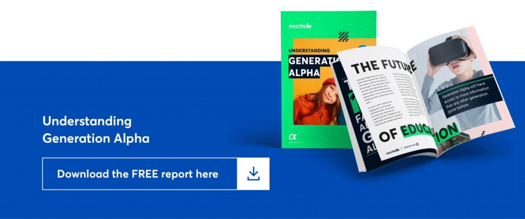 clickable graphic says understanding generation alpha, download the free report here.
