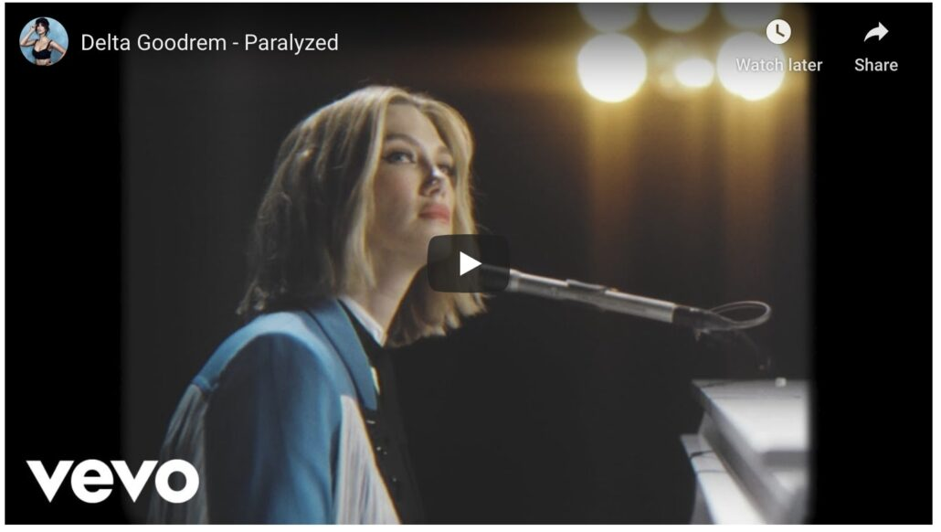 delta goodrem paralyzed music video youtube
