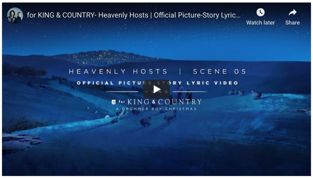 for king & country - heavenly hosts official picture story lyric video
